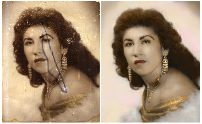 Houston Artist Bonnie Blue has been doing photo restorations for over 30 years